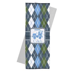 Blue Argyle Yoga Mat Towel (Personalized)