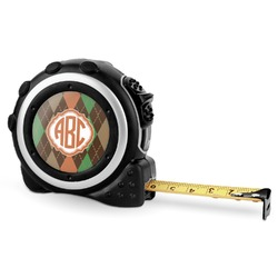 Brown Argyle Tape Measure - 16 Ft (Personalized)