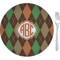 Brown Argyle Glass Appetizer / Dessert Plates 8