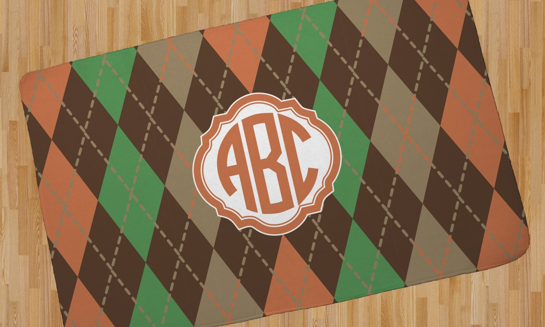 Brown Argyle Area Rug Personalized Youcustomizeit