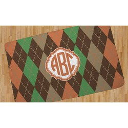 Brown Argyle Area Rug (Personalized)