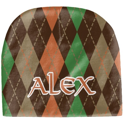 Brown Argyle Baby Hat (Beanie) (Personalized)