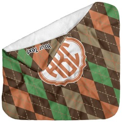 Brown Argyle Baby Hooded Towel (Personalized)