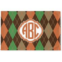 Brown Argyle Woven Mat (Personalized)