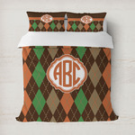 Brown Argyle Duvet Cover (Personalized)