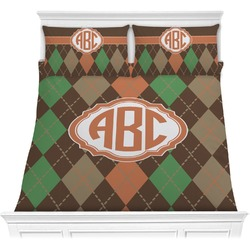 Brown Argyle Comforter Set (Personalized)