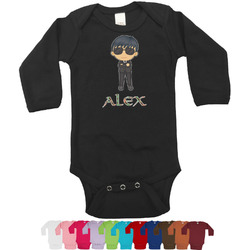 Brown Argyle Bodysuit - Long Sleeves - 12-18 months (Personalized)