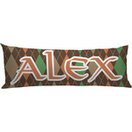 Brown Argyle Body Pillow Case (Personalized)