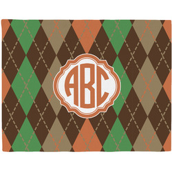 Brown Argyle Placemat (Fabric) (Personalized)