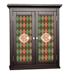 Brown Argyle Cabinet Decal - Custom Size (Personalized)