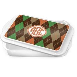 Brown Argyle Cake Pan (Personalized)