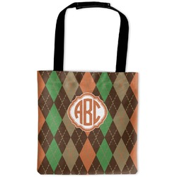 Brown Argyle Auto Back Seat Organizer Bag (Personalized)