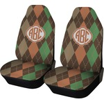 Brown Argyle Car Seat Covers (Set of Two) (Personalized)