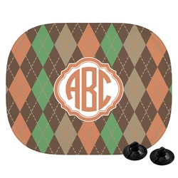 Brown Argyle Car Side Window Sun Shade (Personalized)