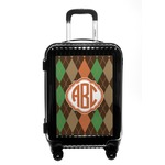 Brown Argyle Carry On Hard Shell Suitcase (Personalized)