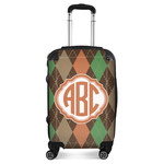Brown Argyle Suitcase (Personalized)