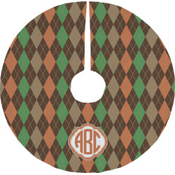 Brown Argyle Tree Skirt (Personalized)