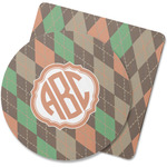 Brown Argyle Rubber Backed Coaster (Personalized)