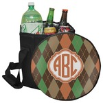 Brown Argyle Collapsible Cooler & Seat (Personalized)