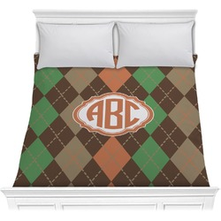 Brown Argyle Comforter (Personalized)