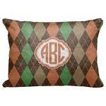 "Brown Argyle Decorative Baby Pillowcase - 16""x12"" (Personalized)"