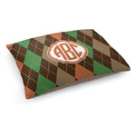 Brown Argyle Dog Bed (Personalized)