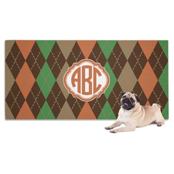 Brown Argyle Dog Towel (Personalized)