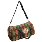 Brown Argyle Duffel Bag (Personalized)