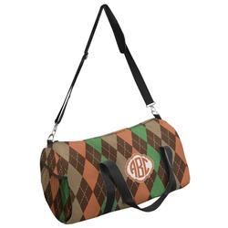 Brown Argyle Duffel Bag - Multiple Sizes (Personalized)