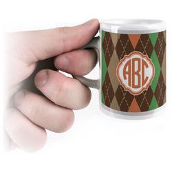 Brown Argyle Espresso Mug - 3 oz (Personalized)