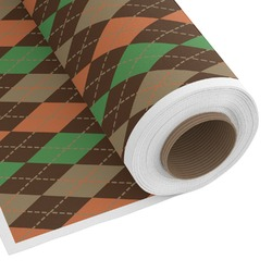 Brown Argyle Custom Fabric by the Yard (Personalized)