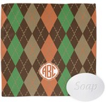 Brown Argyle Wash Cloth (Personalized)