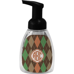 Brown Argyle Foam Soap Dispenser (Personalized)