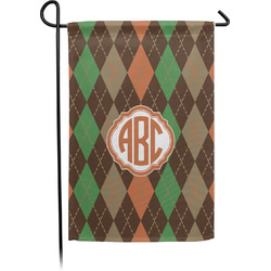 Brown Argyle Garden Flag - Single or Double Sided (Personalized)