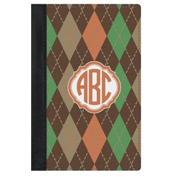 Brown Argyle Genuine Leather Passport Cover (Personalized)
