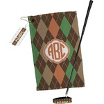 Brown Argyle Golf Towel Gift Set (Personalized)