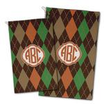 Brown Argyle Golf Towel - Full Print w/ Monogram