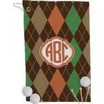 Brown Argyle Golf Towel - Full Print (Personalized)