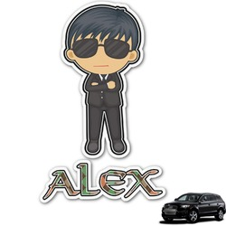 Brown Argyle Graphic Car Decal (Personalized)
