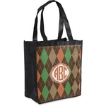 Brown Argyle Grocery Bag (Personalized)