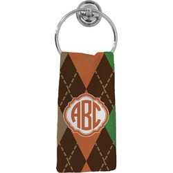 Brown Argyle Hand Towel - Full Print (Personalized)