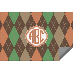 Brown Argyle Indoor / Outdoor Rug (Personalized)