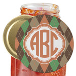 Brown Argyle Jar Opener (Personalized)