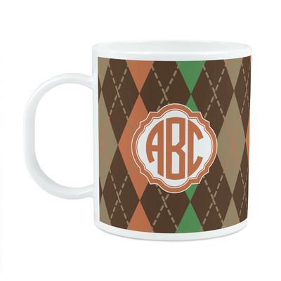 Brown Argyle Plastic Kids Mug (Personalized)