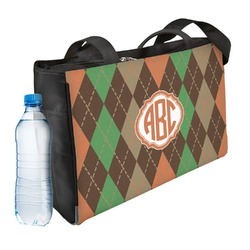 Brown Argyle Ladies Workout Bag (Personalized)