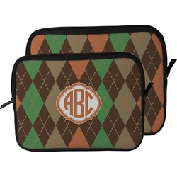 Brown Argyle Laptop Sleeve / Case (Personalized)