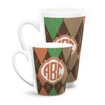 Brown Argyle Latte Mug (Personalized)