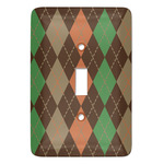Brown Argyle Light Switch Covers (Personalized)