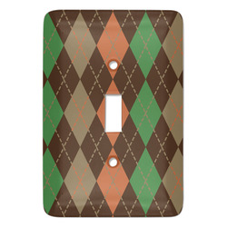 Brown Argyle Light Switch Covers - Multiple Toggle Options Available (Personalized)