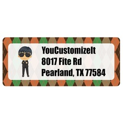 Brown Argyle Return Address Labels (Personalized)